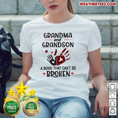 Happy Grandma 14 Grandson Bond Ladies-tee - Design by Weathertee.com