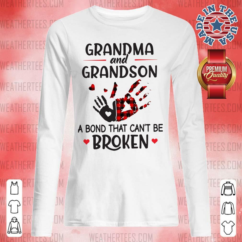 Happy Grandma 14 Grandson Bond Long-sleeved - Design by Weathertee.com