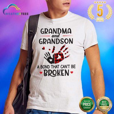 Happy Grandma 14 Grandson Bond Shirt - Design by Weathertee.com