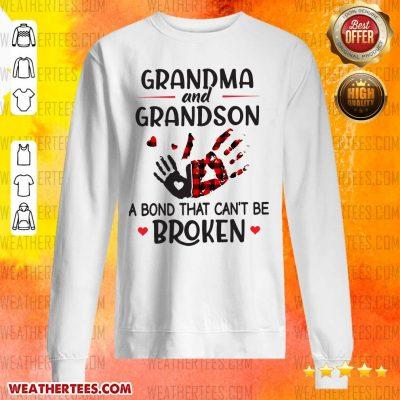 Happy Grandma 14 Grandson Bond Sweater - Design by Weathertee.com