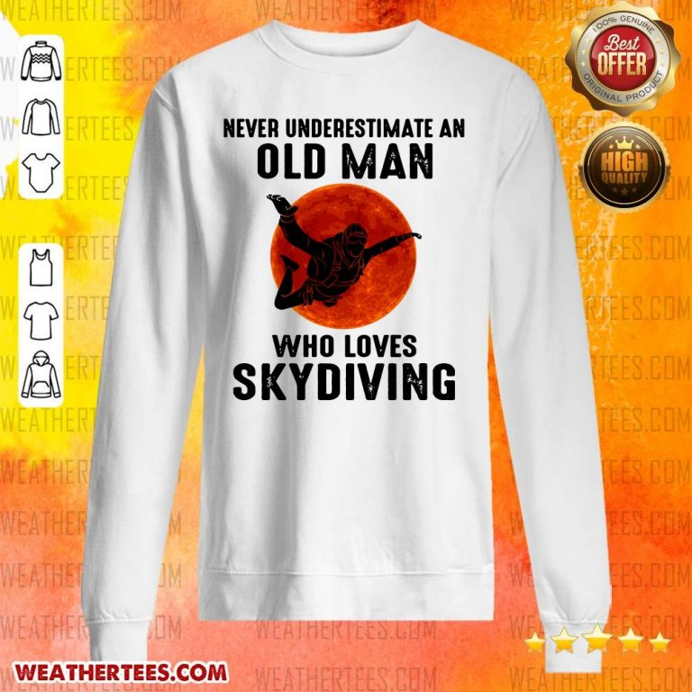 Hot 12 Old Man Loves Skydiving Sweater - Design by Weathertee.com
