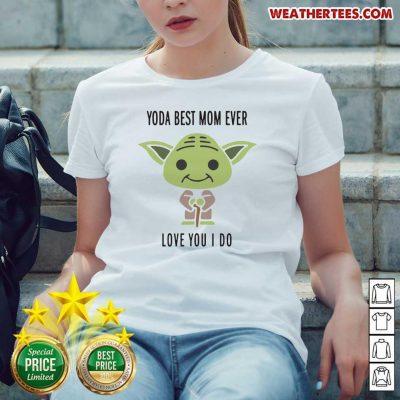 Hot 6 Baby Yoda Best Mom Ladies-tee - Design by Weathertee.com