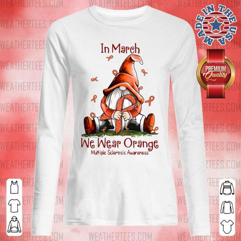 Hot March We Wear Orange 16 Long-sleeved - Design by Weathertee.com