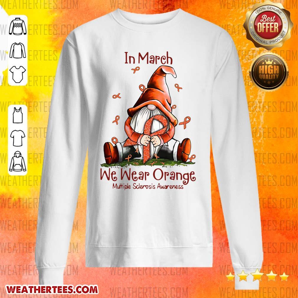 Hot March We Wear Orange 16 Sweater - Design by Weathertee.com