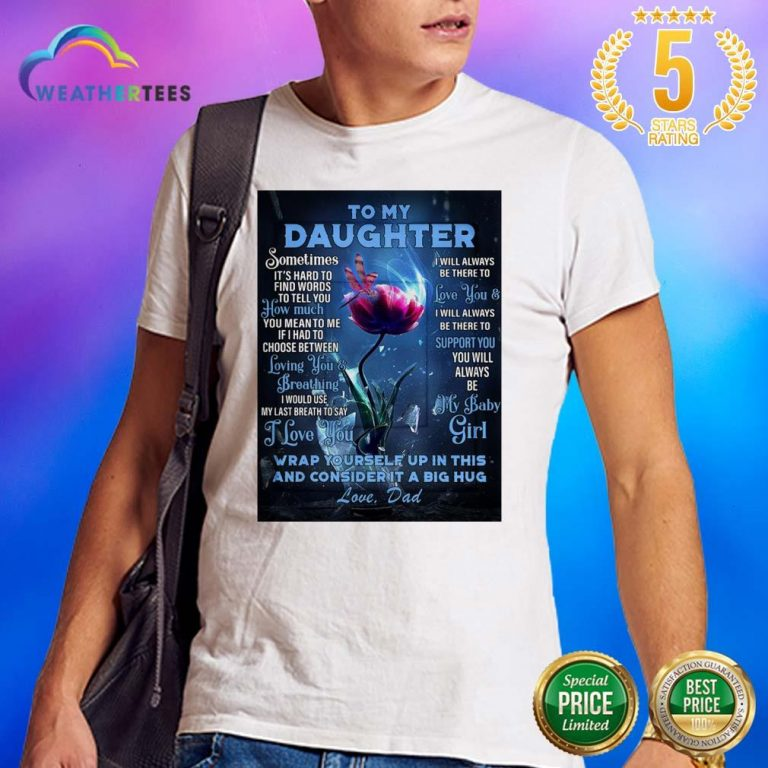 Lovely Dragonfly Flowers Daughter 2 Shirt - Design by Weathertee.com