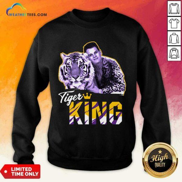 Official Joe Burrow Joe Exotic Tigers King Sweatshirt