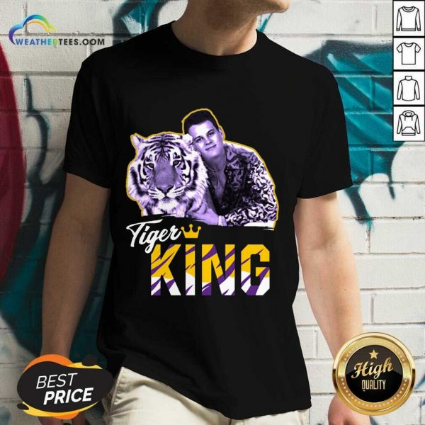 Official Joe Burrow Joe Exotic Tigers King V-neck