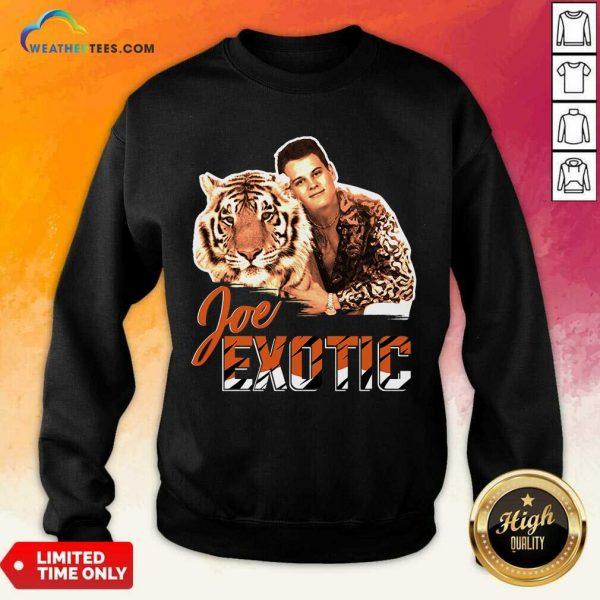 Official Joe Burrow Tigers King Joe Exotic Sweatshirt
