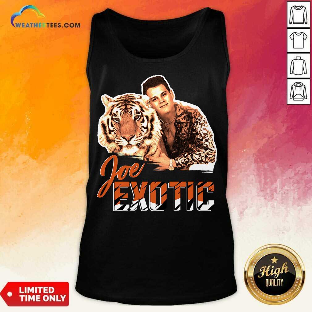 Official Joe Burrow Tigers King Joe Exotic Tank Top