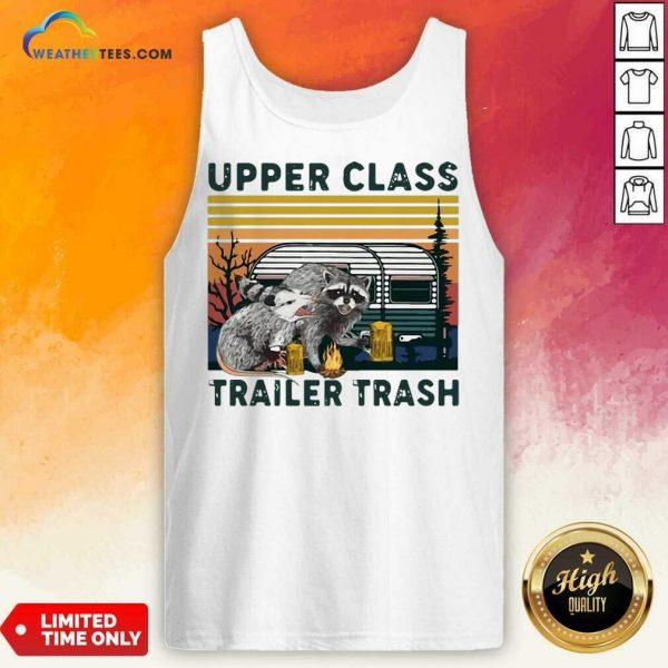 Official Raccoons And Opossums Upper Class Trailer Trash Vintage Tank Top