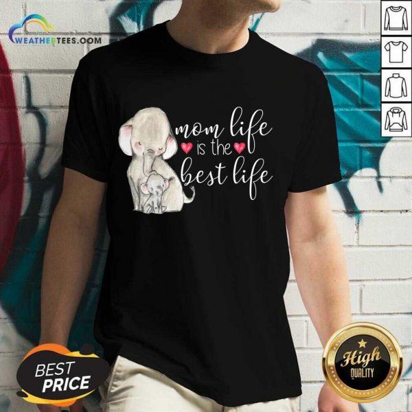 Overjoyed Mom Life Is The Best 789 V-neck