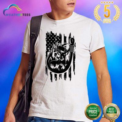 Premium 8 Fishing American Flag Shirt - Design by Weathertee.com