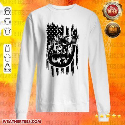Premium 8 Fishing American Flag Sweater - Design by Weathertee.com