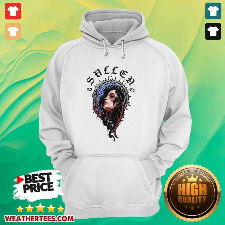 Pretty 16 Girl Sullen Art Co Hoodie - Design by Weathertee.com