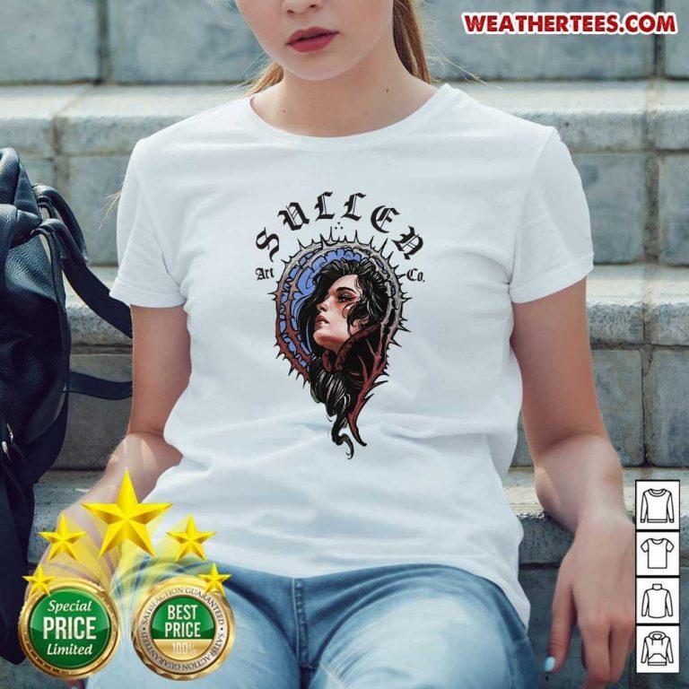 Pretty 16 Girl Sullen Art Co Ladies-tee - Design by Weathertee.com