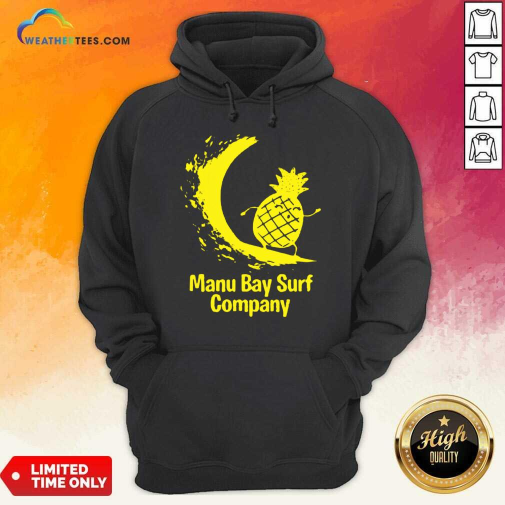 Relaxed Manu Bay Surf Gold Pineapple 5 Hoodie
