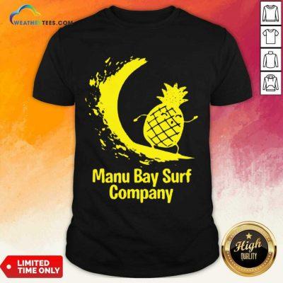 Relaxed Manu Bay Surf Gold Pineapple 5 Shirt