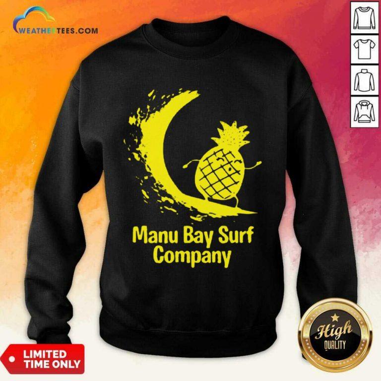 Relaxed Manu Bay Surf Gold Pineapple 5 Sweatshirt