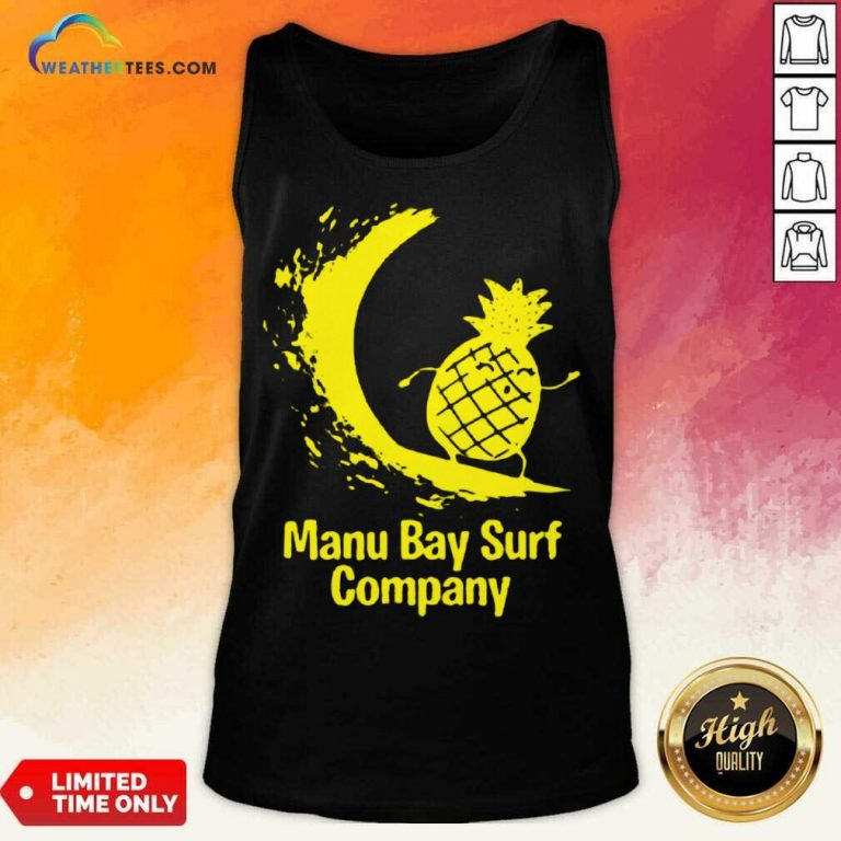 Relaxed Manu Bay Surf Gold Pineapple 5 Tank Top