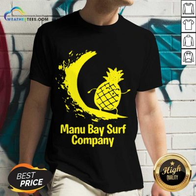 Relaxed Manu Bay Surf Gold Pineapple 5 V-neck