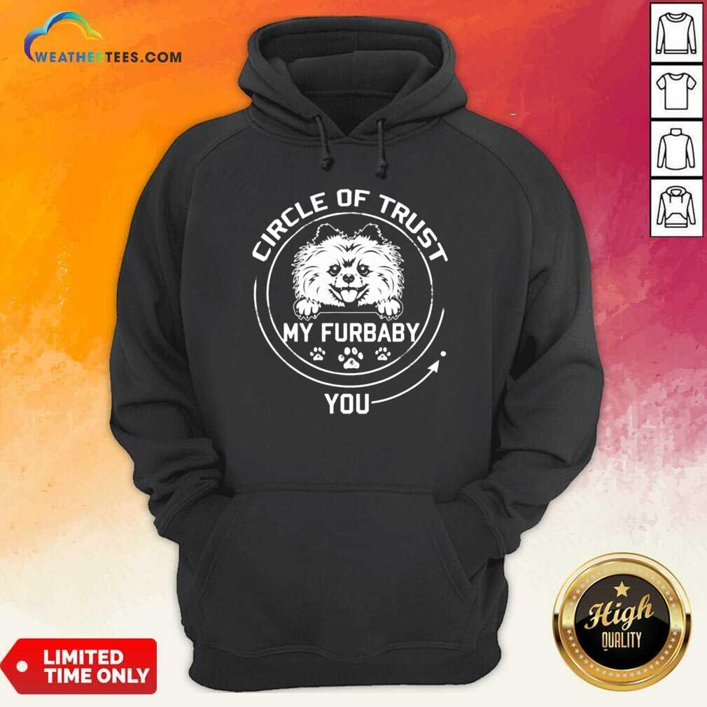 Relaxed My Furbaby Circle Dog 6 Hoodie