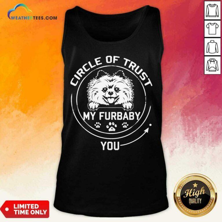 Relaxed My Furbaby Circle Dog 6 Tank Top
