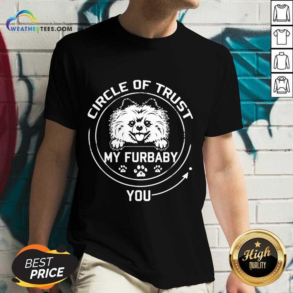 Relaxed My Furbaby Circle Dog 6 V-neck