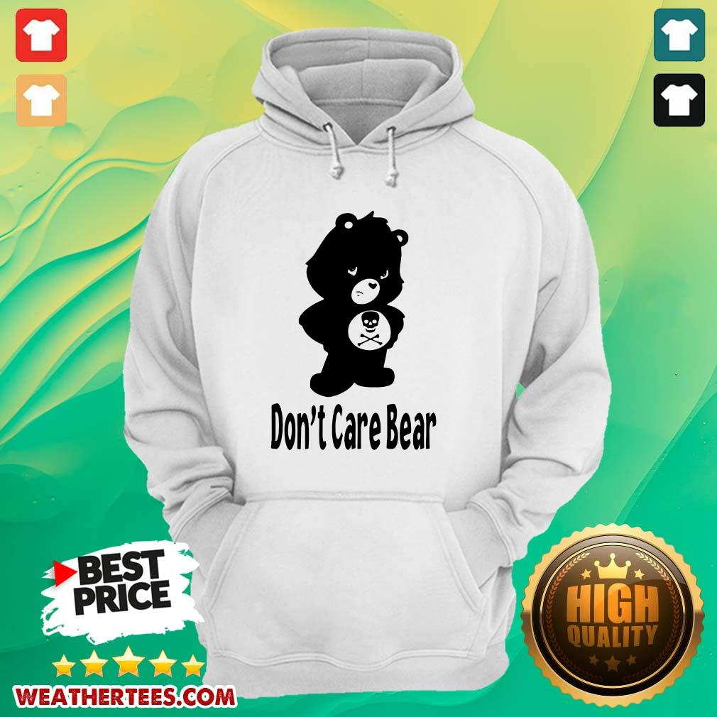 Shocked 7 Dont Care Bear Hoodie - Design by Weathertee.com