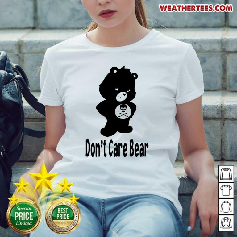Shocked 7 Dont Care Bear Ladies-tee - Design by Weathertee.com