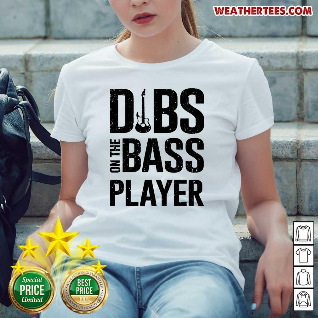 Surprised 4 Dibs On The Bass Player Ladies-tee - Design by Weathertee.com