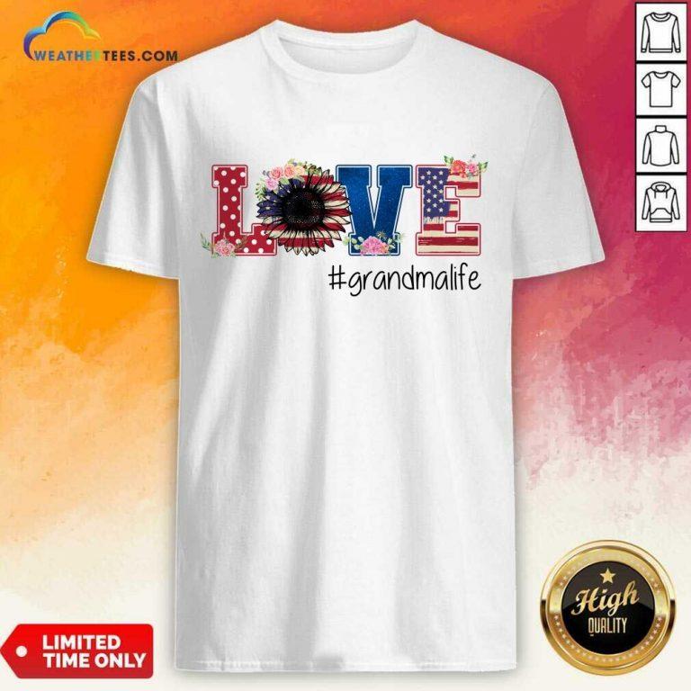 Surprised Love Grandma American 5 Shirt