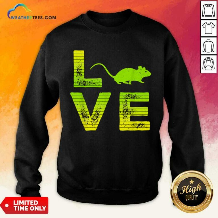 Terrific I Love Mouse Boy And Girl 6 Sweatshirt
