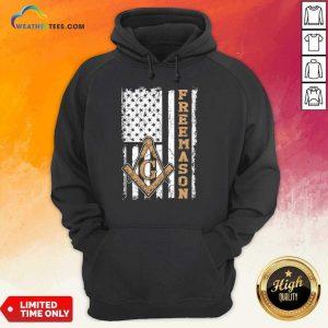Top Freemason American Flag Hoodie