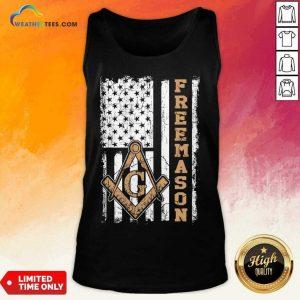 Top Freemason American Flag Tank Top