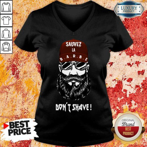 Excellent Sauver La Barbe Dont Shave V-neck