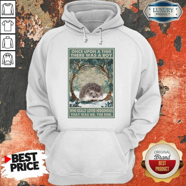 Funny Hedgehog Once Upon A Time Boy Vertical Poster Hoodie