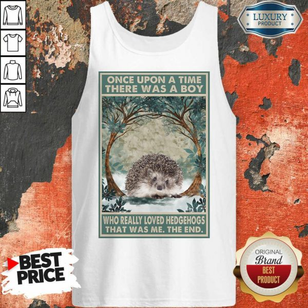 Funny Hedgehog Once Upon A Time Boy Vertical Poster Tank Top