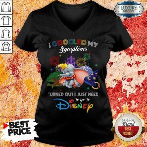 Happy Elephants I Googled My Symptoms Disney V-neck
