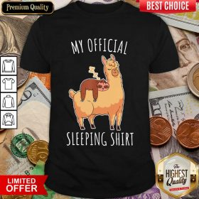 Happy Sloth And Alpaca My Official Sleeping Hoodie