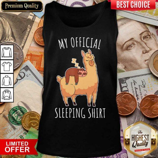 Happy Sloth And Alpaca My Official Sleeping Tank Top
