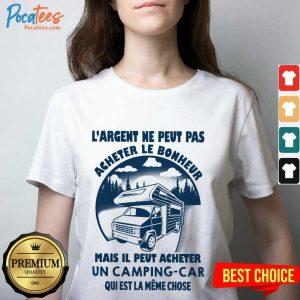 Hot LArgent Ne Peut Camping Car V-neck