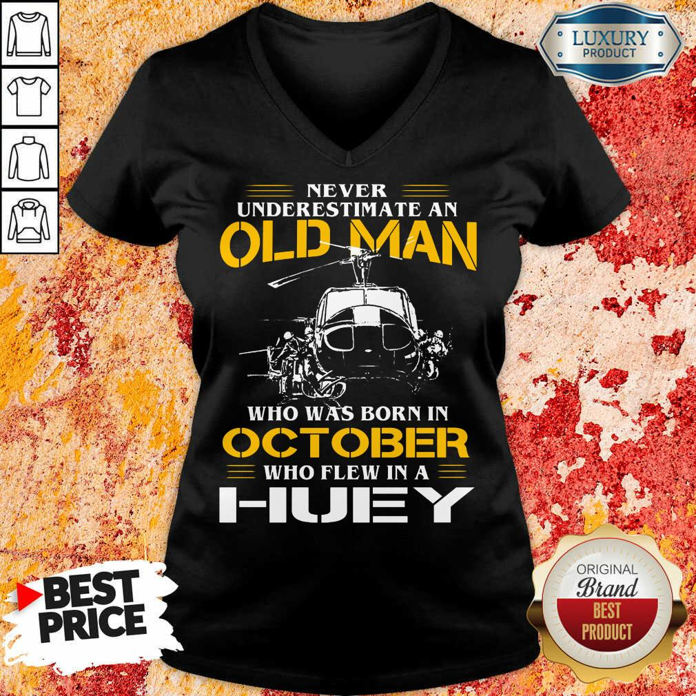 Old Man Who Was Born In October Huey  V-neck