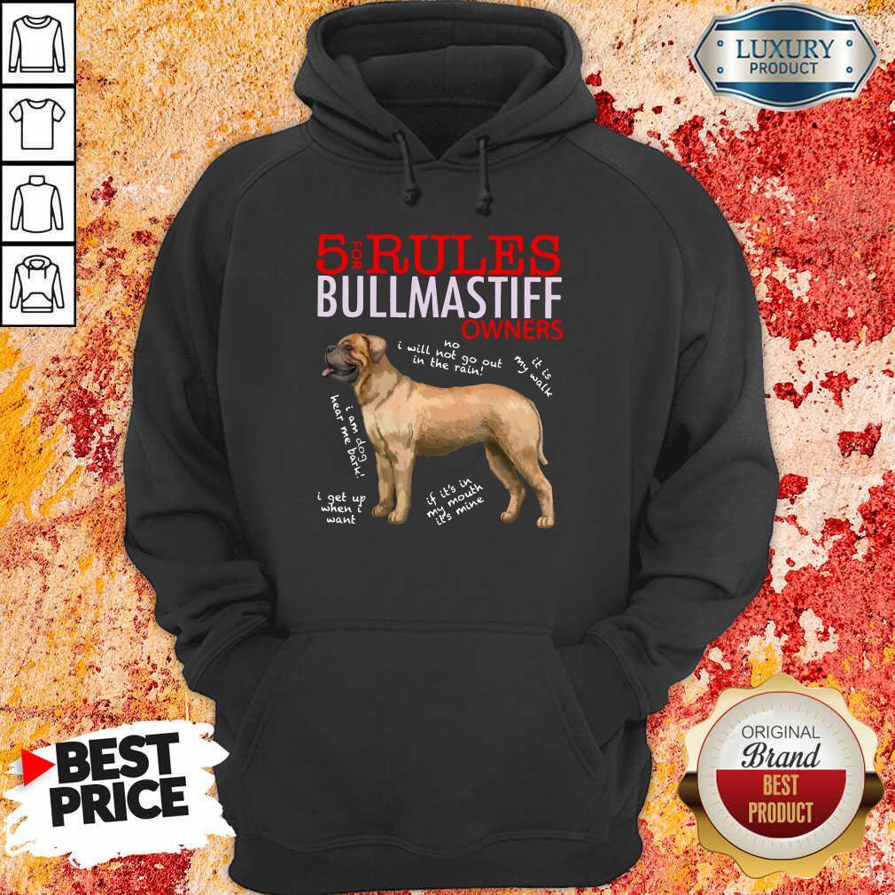 Original 5 Rules Bullmastiff Owners Hoodie