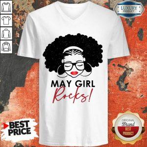 Perfect May Girl Rocks V-neck