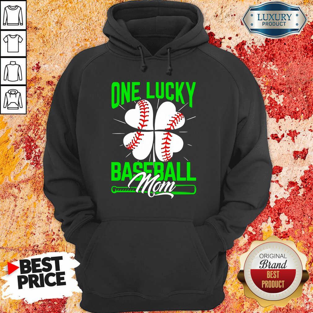 Top One Lucky Baseball Mom Hoodie
