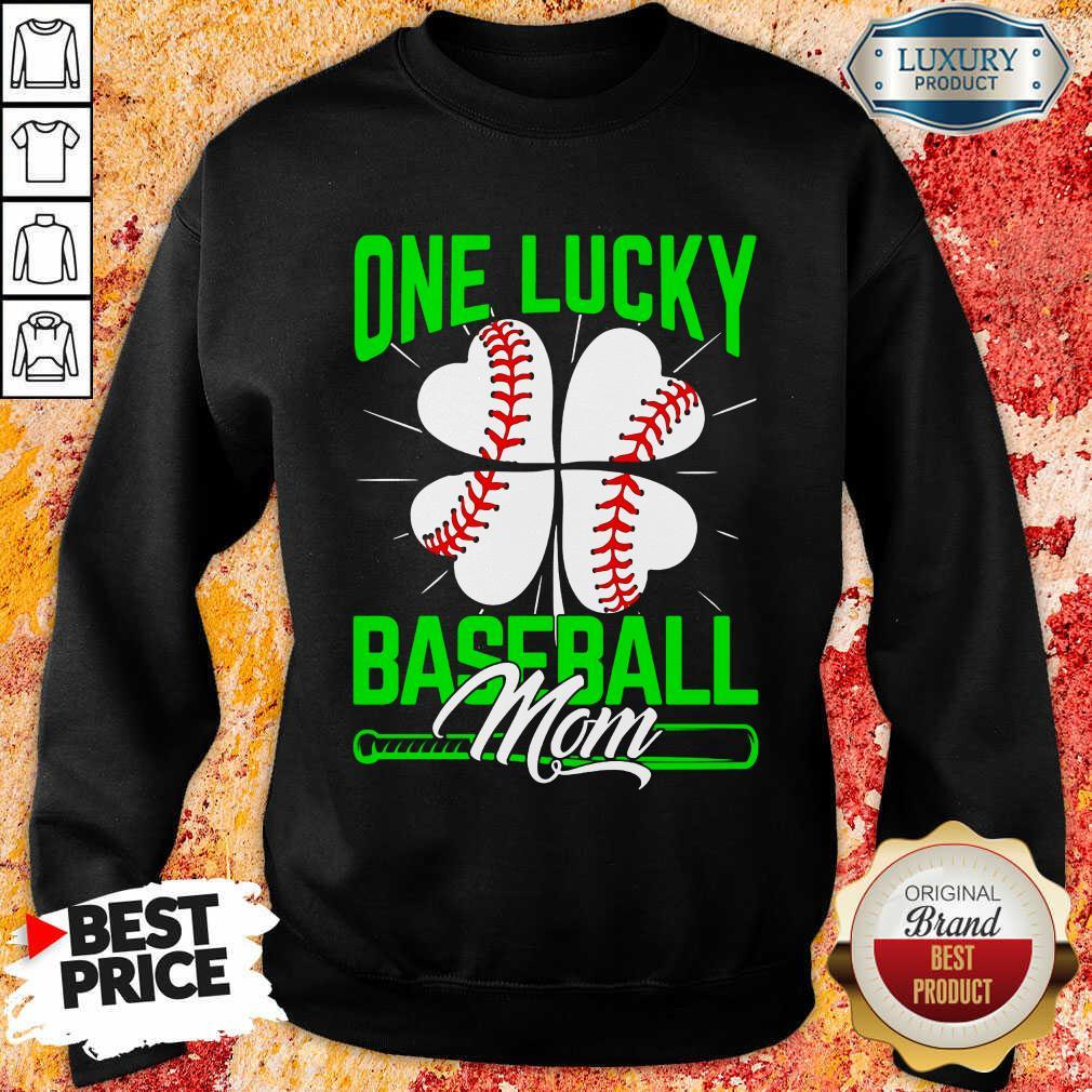 Top One Lucky Baseball Mom Sweatshirt