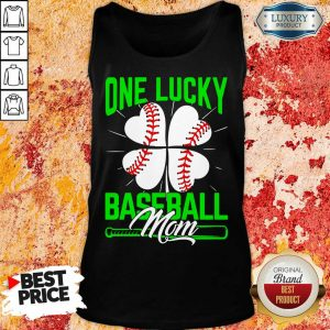 Top One Lucky Baseball Mom Tank Top