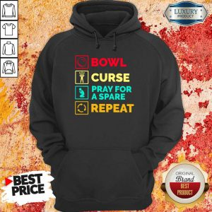 Bowl Curse Pray For A Spare Repeat Hoodie