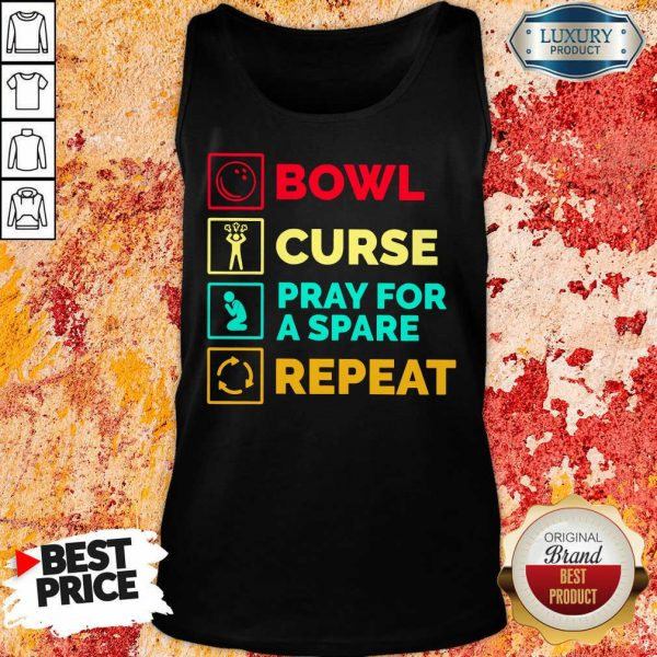 Bowl Curse Pray For A Spare Repeat Tank Top