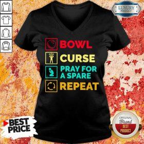 Bowl Curse Pray For A Spare Repeat V-neck